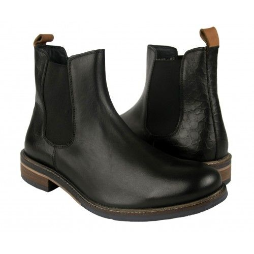 Basic leather boots with elastic closure Zerimar - 1