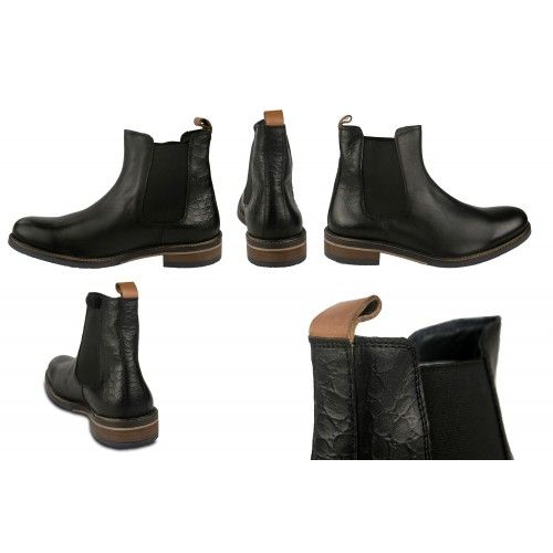 Basic leather boots with elastic closure Zerimar - 2