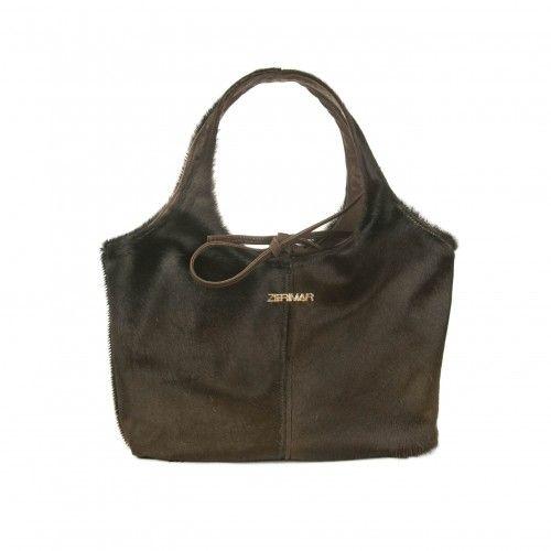 Reversible calfskin bag 20x14x31 cm handmade Zerimar - 2