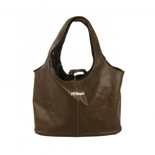 Reversible calfskin bag 20x14x31 cm handmade Zerimar - 1