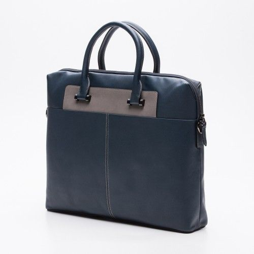 Two-color briefcase with handles and strap Zerimar - 2