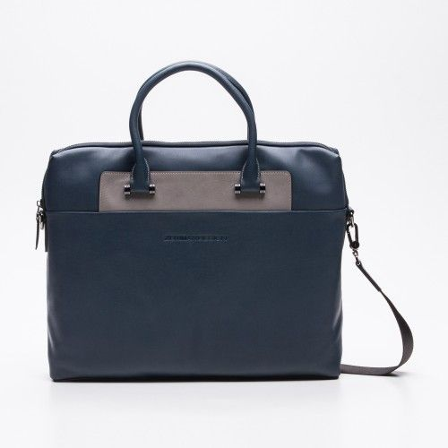 Two-color briefcase with handles and strap Zerimar - 1