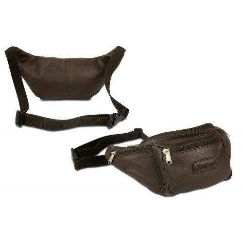 Leather waist bag with several compartments Zerimar - 2
