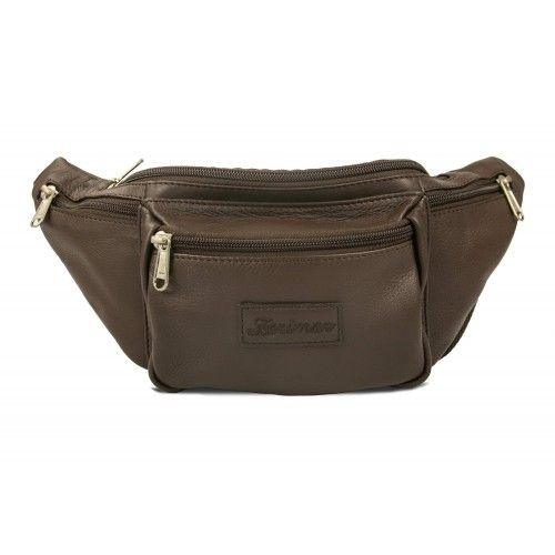 Leather waist bag with several compartments Zerimar - 1