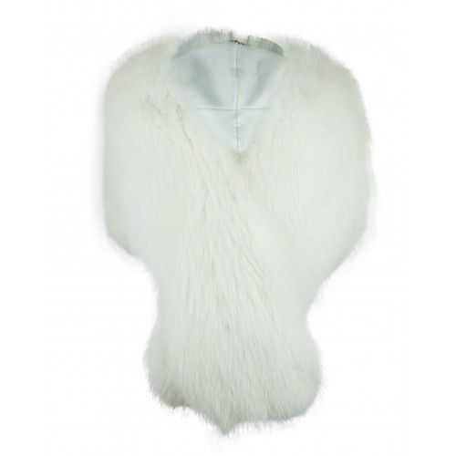 White natural fox stole
