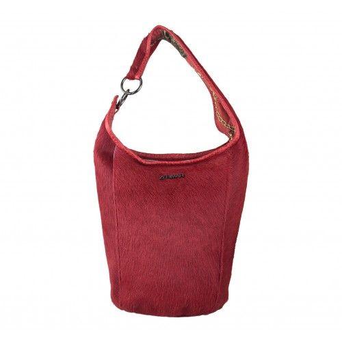 Natural leather CUBO bag with zip closure Zerimar - 2