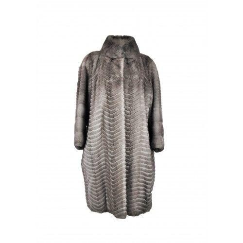 Long striped mink coat Zerimar - 2