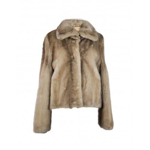 Short gray mink jacket with classic collar Zerimar - 1