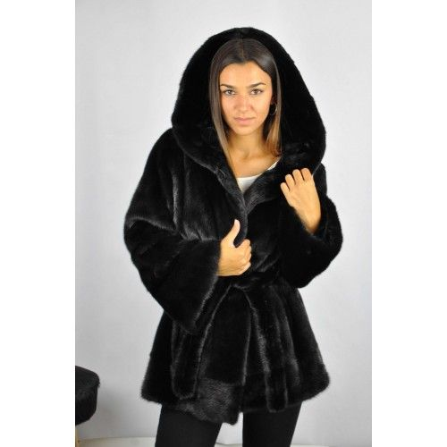 Black jacket with hood and...