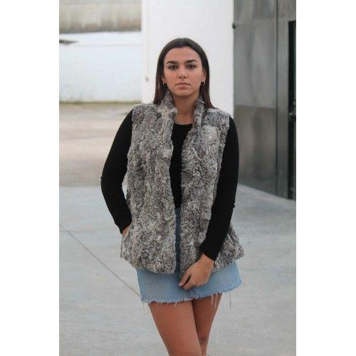 Gray Astrakhan Fur Vest