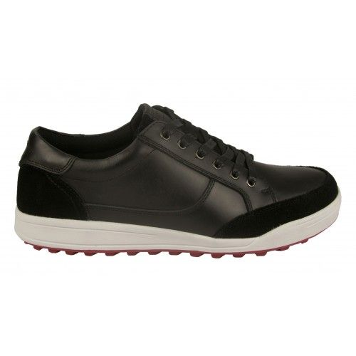 Leather golf shoes with laces and velvet texture Airel - 2