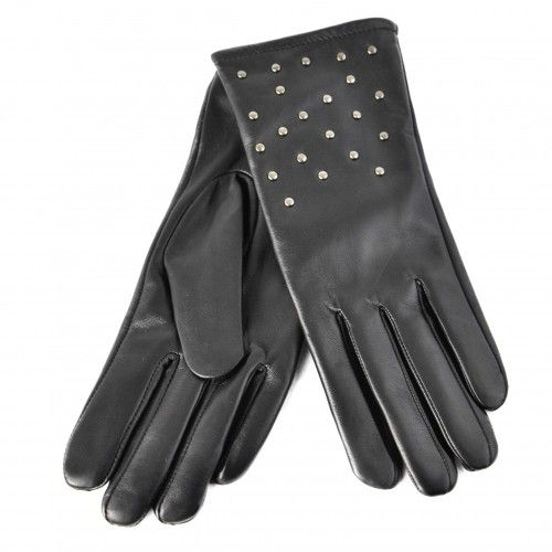 Studded leather gloves for women Zerimar - 1