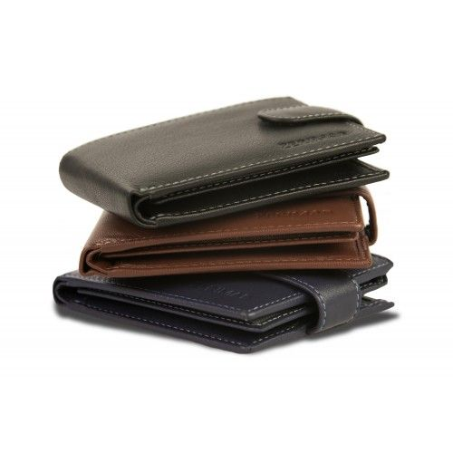 Leather wallet with...