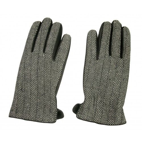 Gloves made of leather and printed fabric for men Zerimar - 2