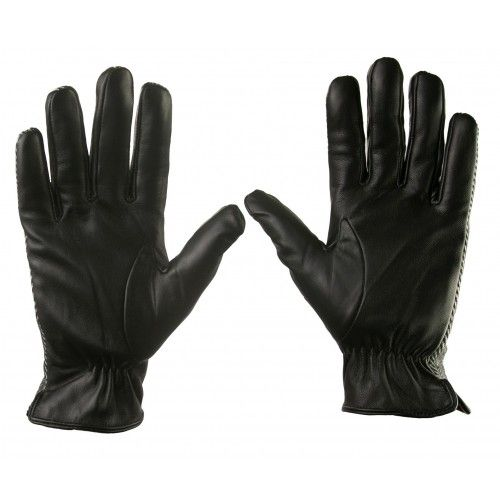 Gloves made of leather and printed fabric for men Zerimar - 3