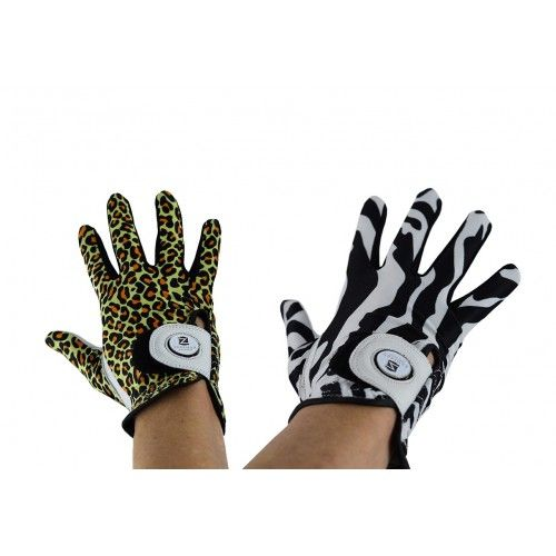 Pack of right-handed animal print leather golf gloves Airel - 1