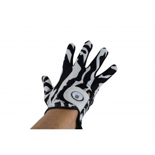 Pack of right-handed animal print leather golf gloves Airel - 2