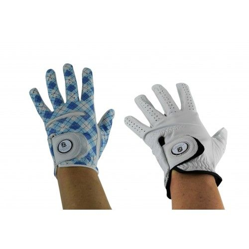 Pack of golf gloves made of leather for women - left Airel - 1