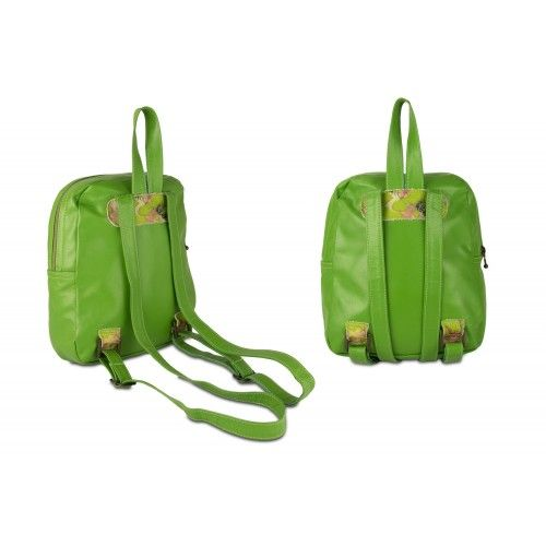 Leather backpack with flowers and zip closure Zerimar - 2