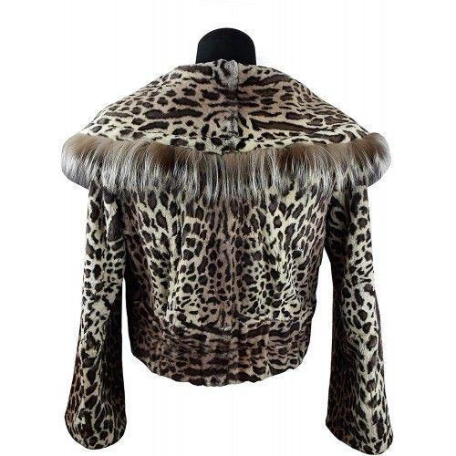 Fur Rabbit Jacket with Zip...