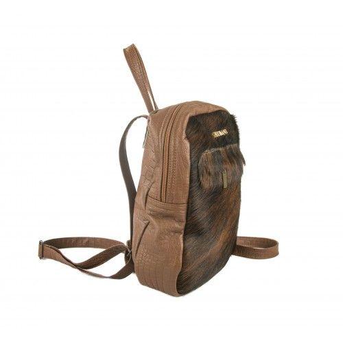 Vintage style handmade leather backpack Zerimar - 1