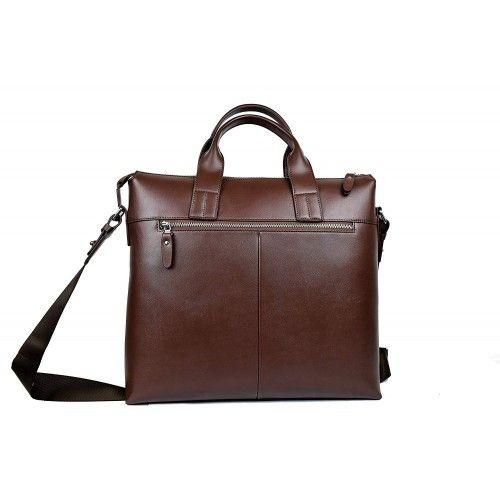 Leather shoulder bag 37x35x9 cm Zerimar - 2