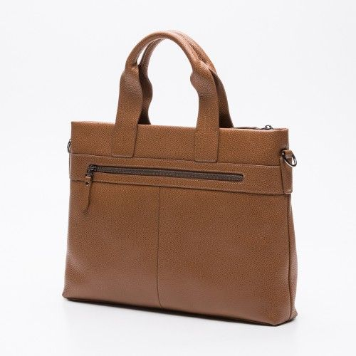 Design Leather briefcase with front pockets and zip closure Zerimar - 2
