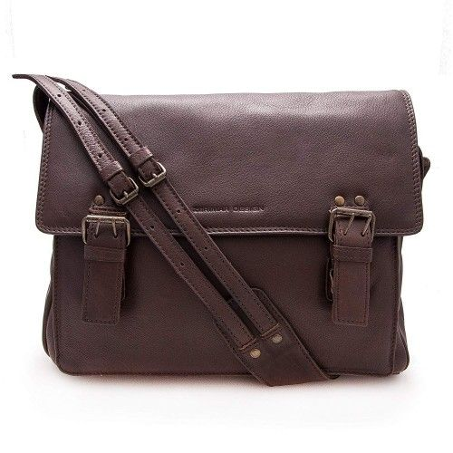 Leather briefcase with buckle and zipper 30x35x8 cm Zerimar - 1