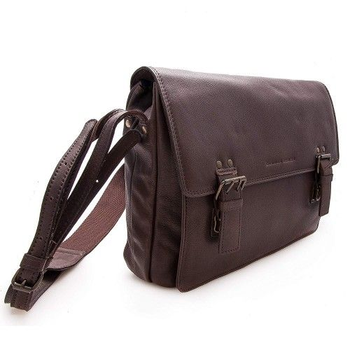 Leather briefcase with buckle and zipper 30x35x8 cm Zerimar - 2