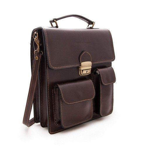 Leather shoulder bag 30x26x10 cm Zerimar - 1