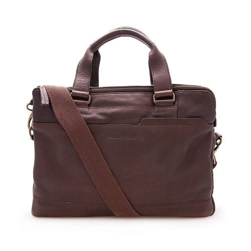 Leather briefcase, shoulder bag 28x38x9 cm Zerimar - 1