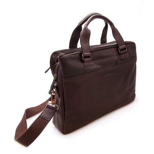 Leather briefcase, shoulder bag 28x38x9 cm Zerimar - 2