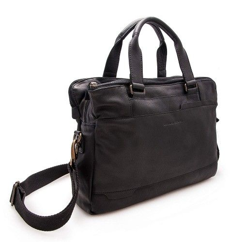 Leather briefcase, shoulder bag 28x38x9 cm Zerimar - 8