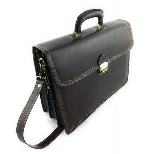 Messenger bag natural leather 40x12x30 cm Zerimar - 2
