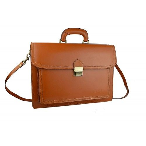 Leather briefcase with handle 40x30x13 cm Zerimar - 2