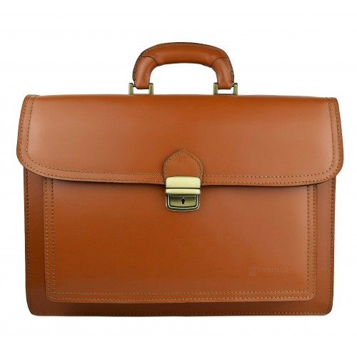 Leather briefcase with handle 40x30x13 cm Zerimar - 1