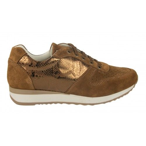 Suede sneakers with metal...