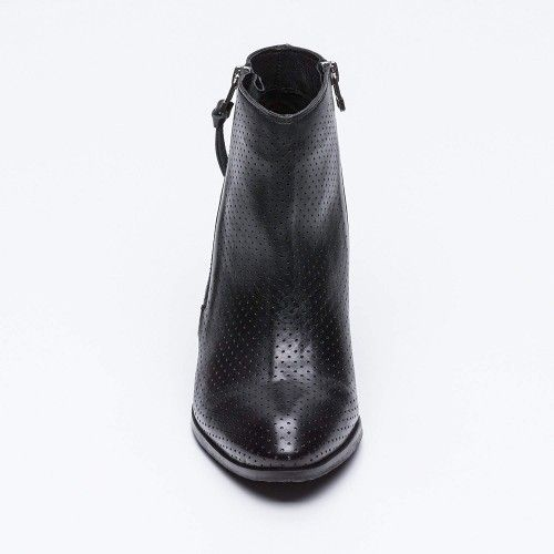 Perforated leather ankle...