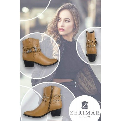 Leather ankle boots with...