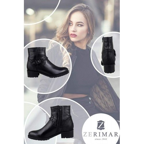 Rock style ankle boots with...