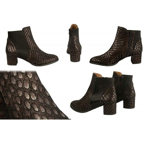 Leather Ankle Boots with Heels in Elegant Style- Made in Spain Zerimar - 2
