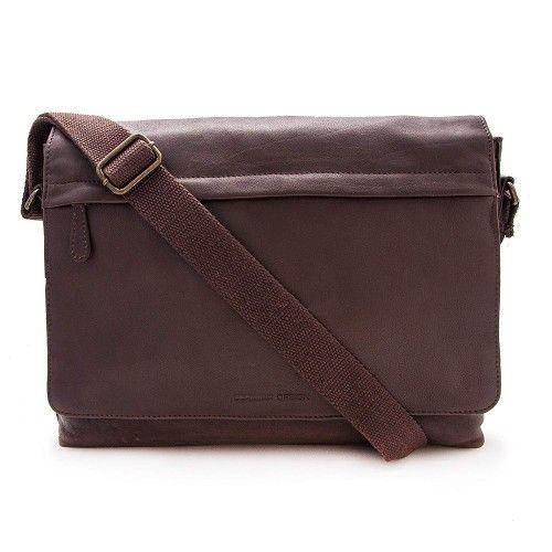 Leather shoulder bag vintage style 30x39x9 cm Zerimar - 1