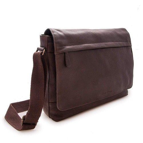 Leather shoulder bag vintage style 30x39x9 cm Zerimar - 2
