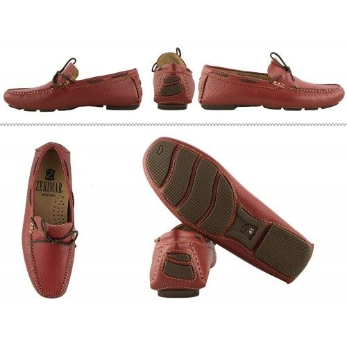 Leather Boat Shoes for Men, Big Sizes, Leather Loafers Men 4 Zerimar - 2