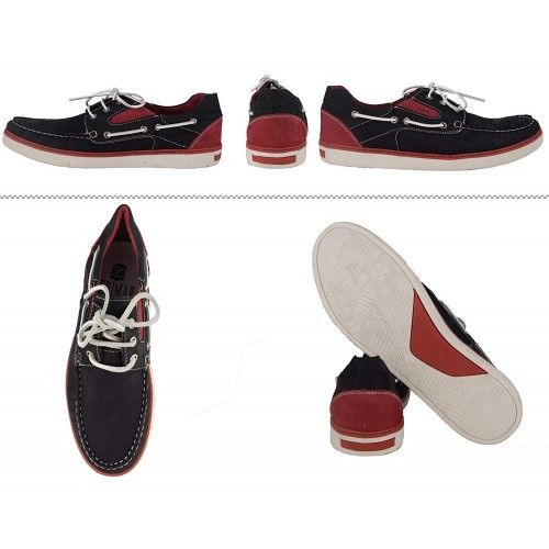 Leather Boat Shoes for Men, Big Sizes, Leather Loafers Men Zerimar - 2