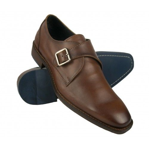 Leather classic shoes with buckle closure Zerimar - 1