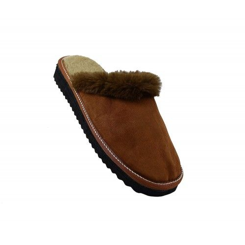 Brown slippers by double-faced leather house Zerimar - 1