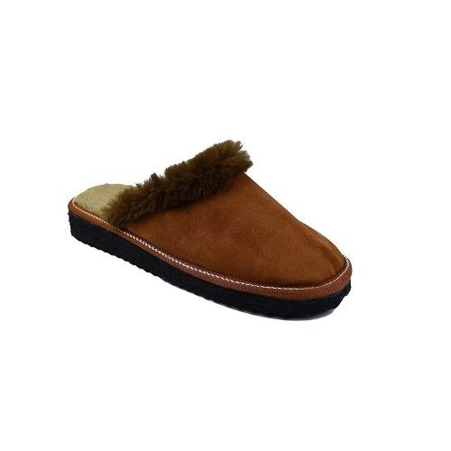 Brown slippers by double-faced leather house Zerimar - 2