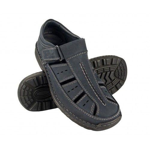 Closed leather trekking sandals for men Zerimar - 1