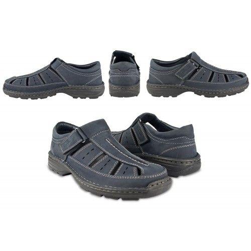 Closed leather trekking sandals for men Zerimar - 2
